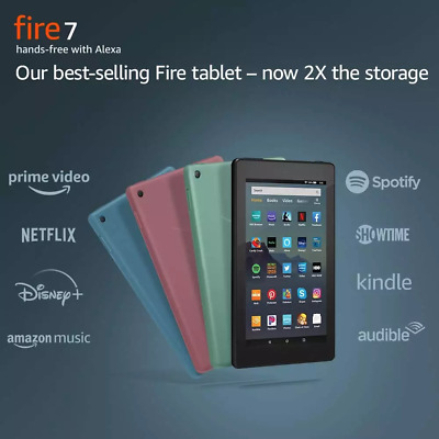 "NEW Amazon Fire 7 Tablet With Alexa 7"" Display 16 GB 9th Generation - ALL COLORS"