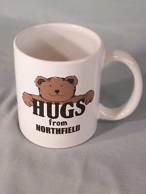 "Hugs From Northfield coffee cup approx 3.75"" tall"