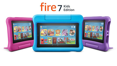 """NEW Amazon Fire 7 Kids Edition Tablet 7"""" Display 16GB (7th Gen) BLUE YELLOW PINK"""