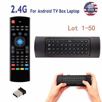 2.4G Wireless Air Mouse Remote Control QWERTY Keyboard for Android TV Box Lot MA