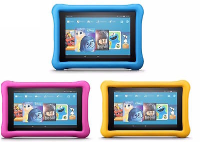NEW Amazon Fire HD 8 Kids Edition Tablet 8 Display 32GB 7th Gen BLUE YELLOW PINK