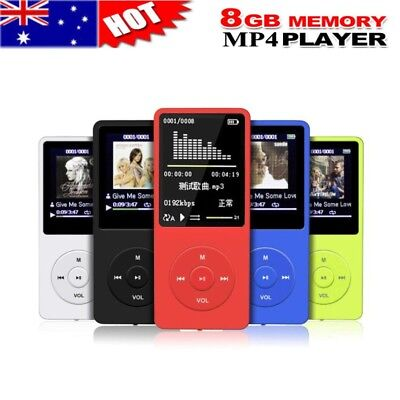8GB 70 Hours Playback MP3 MP4 Lossless Sound Music Player FM Recorder TF Card 8g