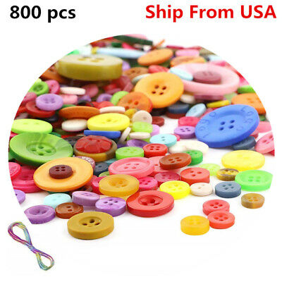 800pcs/lot DIY Round Resin Buttons Sewing Children Sew On Button Accessories
