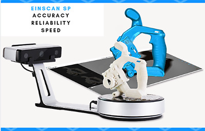 EinScan-SP Desktop 3D Scanner w Turntable+ Tripod High Accuracy Great Scans W...