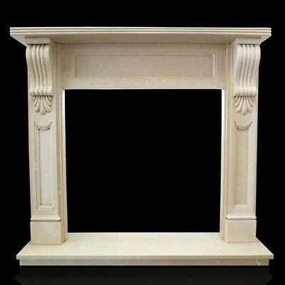 Fireplace Marble Yellow Egypt Frame Style Empire Classic Marble Fireplace Frame