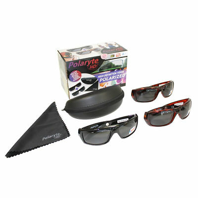 2 in 1 Box Polaryte HD Sunglasses Anti Scratch For Outdoor Cycling Driving UK