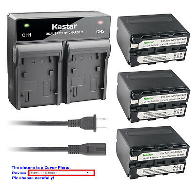 Kastar Battery Rapid Charger for Sony NP-F970 NP-F960 NP-F950 & Sony BC-VM50