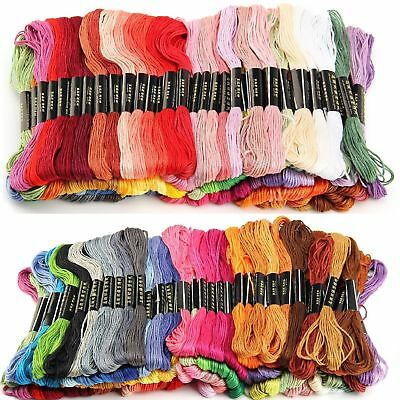 100x 8M Cotton SKEINS MULTICOLOR EMBROIDERY THREAD Stitch Braiding Craft Sewing