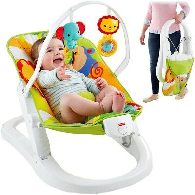FISHER-PRICE Babywippe Rainforest Faltbar Vibration Babyschaukel CMR20 DMR90 Neu