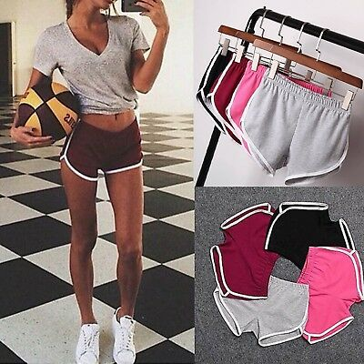 Womens Sports Shorts Casual Ladies Beach Summer Running Gym Yoga Hot Pants 6-20