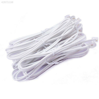 Broadband ADSL2+RJ11 Modem Internet Router Cable Lead Connector 1M White