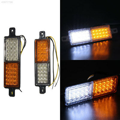 1Pair LED Front Indicator Bull Bar Light Bulb Lamp For Car Truck Vehicle