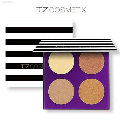 4 Colors 3D Shimmer Highlighter Powder Palette Face Base Highlight Contour