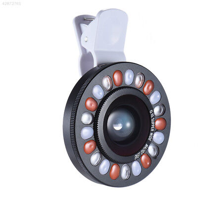 Selfie LED Ring Fill Light Clip On Camera For iPhone Mobile Cell Phone