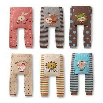 Newborn Baby Boys Girls Striped Animal Shape Long Pants Leggings Outfits Clothes