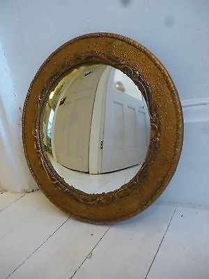 Antique Vintage Regency Convex Wall Mirror Hall Ornate French Louis Art Deco
