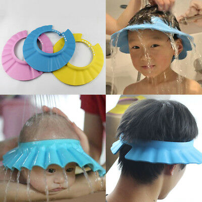 Children Baby Shower Cap Hair Washing Shield Hat Washing Hat