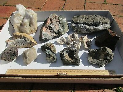 AUSSIE MINERAL CRYSTAL  COLLECTION - Quartz, Petrified Wood, Zeolites more..NICE