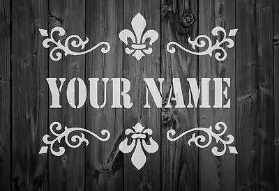 47pl A5//A4//A3 Shabby Chic *PERSONALISED STENCIL* Add your name,125//190 micron