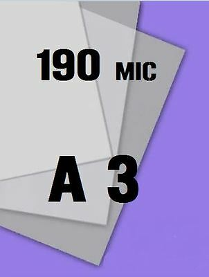 Genuine MYLAR STENCIL Blank Film Sheets LASER SAFE 100 x A3 190 micron REUSABLE
