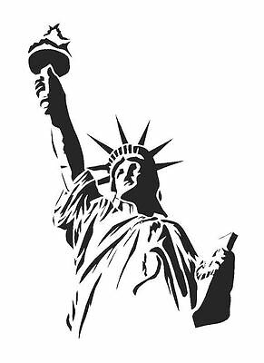 STATUE OF LIBERTY A4 Wall Art , Paint Stencil, Genuine Mylar Re-Useable