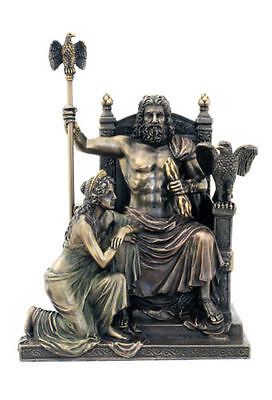 Zeus And Hera At The Throne Statue Sculpture Figurine *GREAT HOLIDAY GIFT!