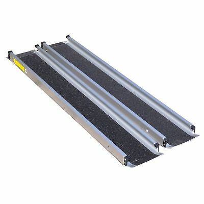 Lightweight aluminium telescopic portable extending mobility wheelchair ramps