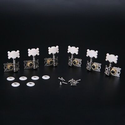 Classical 6pcs Guitar Tuning Pegs Single Machine Heads Tuners Keys String Parts