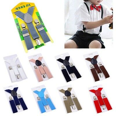 Matching Braces Suspenders and Luxury Bow Tie Set Kids Children Boys Wedding