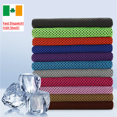 Instant Cooling Towel ICE Cold Golf Cycling Jogging Gym Sports Outdoor Dry Towel