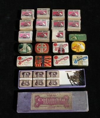 Job Lot of Vintage Gramophone needles. The Tungstyle, Columbia, Songster, HMV