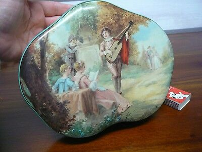 Vintage Huntley & Palmers Biscuit Tin Reading & London England Free Post