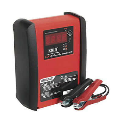 Sealey Intelligent Speed Charger Car Battery 10a 12V Portable Road Safety