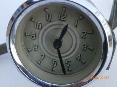 Dashboard clock for vintage car universal fixing 12volt;  make & model unknown