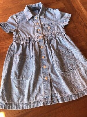 Girls Gap Blue Jeans Vintage Denim Dress Xs 4 Years
