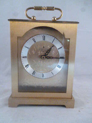 Vintage Brass JUNGHANS (Germany) Quartz Mantel Clock