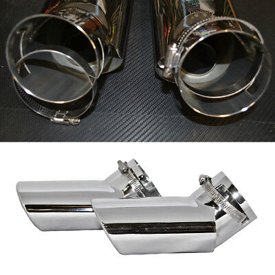 Pair Steel Exhaust Muffler Oval Tail Pipe Tip For Range Rover Sport 2005-2010