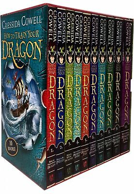 Cressida Cowell How to Train Your Dragon Collection 10 Books Box Gifts Set-New