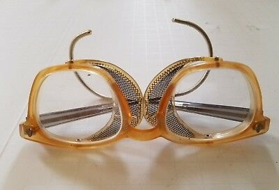 Vintage American Optical Safety Goggles Glasses Steampunk Motorcycle