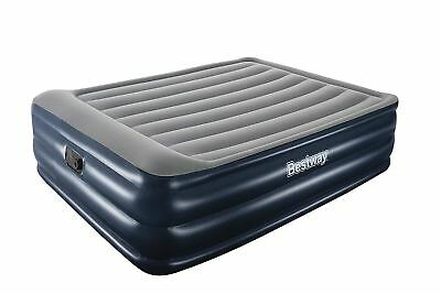 Inflatable Double High Raised Air Bed Mattress Airbed W Built In  Pump