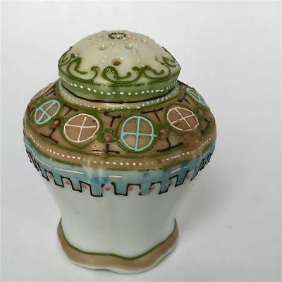 Old Japanese Hand Painted Moriage Fancy Salt Shaker