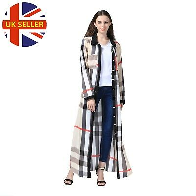 LADIES NEW STYLE Dubai Abaya Kimono Long Robe Gown Summer Front Open ...
