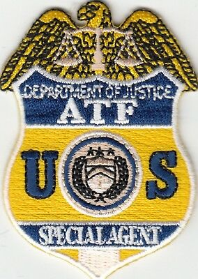 Department Of Justice Atf Special Agent Hat Novelty Patch District Of Columbia