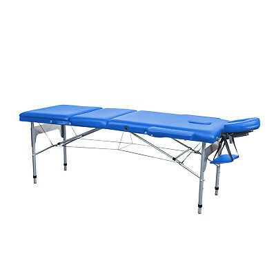 Massageliege Massagetisch 3-Zonen Massagebank Klappbar Tasche Mobile Alu 70 cm