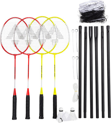 Tecnopro Speed 200 4 Play Net Set - 4er Badminton-Set - Federball-Set - 163546