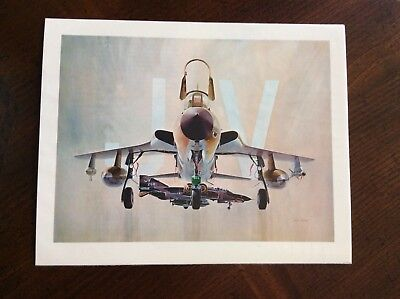 1978 book illustration F-105 D military Airplane nice