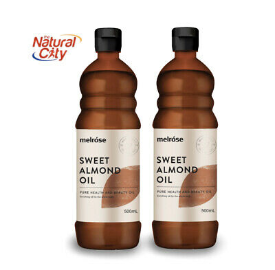 Melrose Almond Oil Sweet 500ml x 2 Pure-Cold-Pressed-Premium- Same Day Dispatch