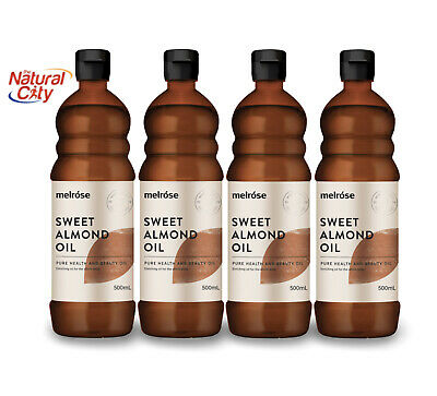 Melrose Almond Oil Sweet 500ml x 4  Pure-Cold-Pressed-Premium- Same Day Dispatch