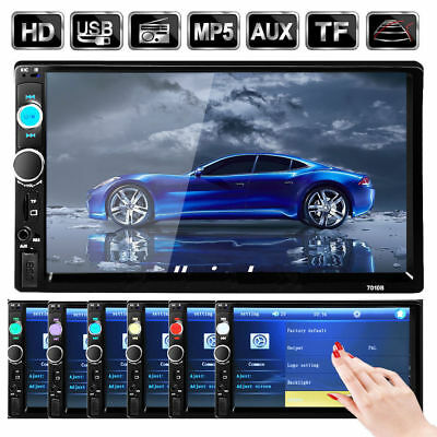 "Car Bluetooth Stereo Audio Player Touch Screen MP5 7"" 7018B FM AM Radio Touch AQ"