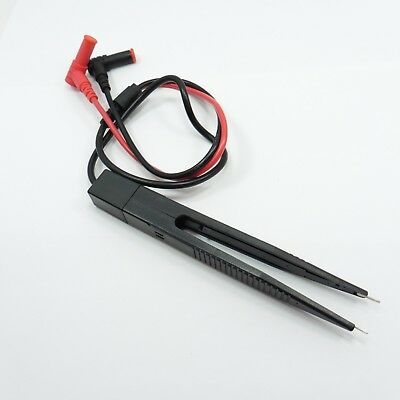 SMD Test Lead Tweezers Probe SMT Hook Cable Precision Measure Multimeter Clip